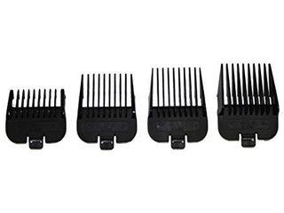 Andis 4 Piece Animal Comb Set  Sizes  1 8  1 4  3 8  1 2  Black  21318