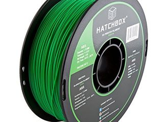 HATCHBOX ABS 3D Printer Filament  Dimensional Accuracy   0 3 mm  1 kg Spool  1 75 mm  Green