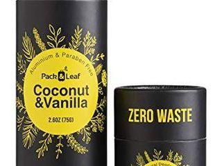 Natural Deodorant Stick Set  Aluminum Free   Zero Waste Deodorant with Full   Travel Size  Coconut   Vanilla  for Women   Men  Vegan   Cruelty Free  Plastic Free   Eco Friendly  Total 3 6oz