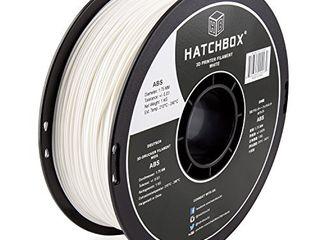 HATCHBOX ABS 3D Printer Filament  Dimensional Accuracy   0 03 mm  1 kg Spool  1 75 mm  White  Model Number  3D ABS 1KG1 75 WHT