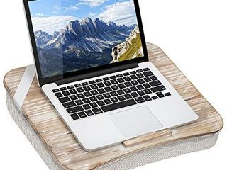 lapGear Heritage lap Desk with Device ledge   White Wash   Fits up to 17 3 Inch laptops   Style No  45611