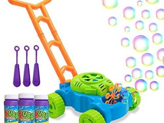 lydaz Bubble Mower for Toddlers  Kids Bubble Blower Machine lawn Games  Summer Outdoor Push Toys  Easter Toys Birthday Gifts for Preschool Baby Boys Girls