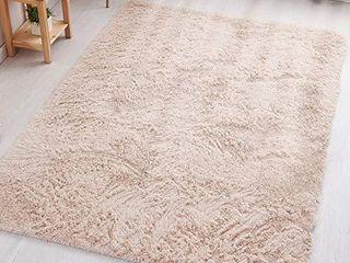 PAGISOFE Beige Fluffy Shag Area Rugs for Bedroom 5x7  Soft Fuzzy Shaggy Rugs for living Room Carpet Nursery Floor Girls Dorm Room Rug