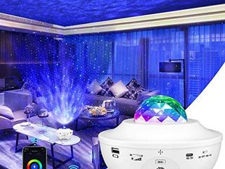 lBell Galaxy Projector 4 in 1 Smart Star Projector Sky lite with Alexa Google Assistant for Baby Kids Bedroom Game Rooms Home Theatre Night light Ambiance with Bluetooth Music Speaker White