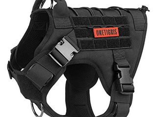 OneTigris Tactical Dog Harness   Fire Watcher Comfortable Patrol K9 Vest  Black  large