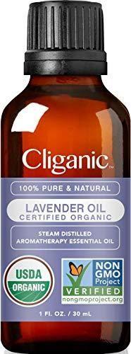 Cliganic USDA Organic lavender Essential Oil  1oz   100  Pure Natural Undiluted  for Aromatherapy Diffuser   Non GMO Verified
