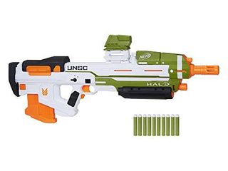 NERF Halo MA40 Motorized Dart Blaster   Includes Removable 10 Dart Clip  10 Official Elite Darts  and Attachable Rail Riser
