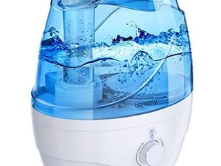 Homasy 2 2l Cool Mist Humidifiers  28dB Whisper Quiet Humidifiers for Bedroom  Easy to Clean   Control Air Humidifier  Auto Shut Off  24H Work Time  Blue