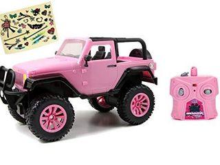 Jada Toys GIRlMAZING Big Foot Jeep R C Vehicle  1 16 Scale  Pink