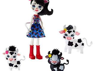 Enchantimals Family Toy Set  Cambrie Cow Doll with Ricotta   Family  Includes 6 inch Doll with 3 Cow Figures to Play Out Family Fun  Great Gift for 3 8 Year Olds  Amazon Exclusive