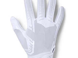 Under Armour boys F6 Youth Football Gloves White  100 White Youth Medium