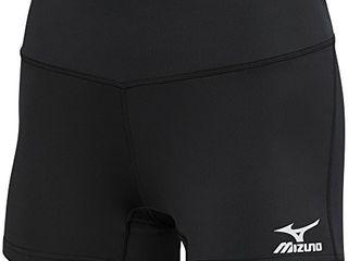 Mizuno Victory 3 5  Inseam Volleyball Short Black Diva Blue  large