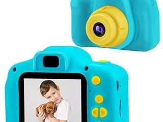 PROGRACE Kids Camera Children Cameras for Boys Birthday Toy Gifts 4 12 Year Old Kid Action Camera for Kids Toddler Video Recorder 1080P IPS 2 Inch