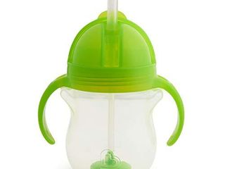 Munchkin Any Angle Click lock Weighted Straw Trainer Cup  Green  7oz