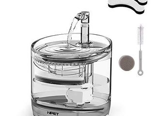 NPET WF050 Cat Water Fountain  Dog Water Dispenser  1 5l Super Quiet Automatic Pet Drinking Fountain with Faucet Kit