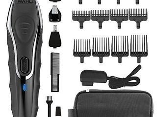 Wahl Aqua Blade Rechargeable Wet Dry lithium Ion Deluxe Trimming Kit with 4 Interchangeable Heads for Shaving  Detailing    Grooming Beards  Mustaches  Stubble  Ear  Nose    Body Model 9899 100