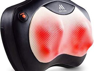 Shiatsu Neck and Back Massager   8 Heated Rollers Kneading Massage Pillow for Shoulders  lower Back  Calf  legs  Foot   Relaxation Gifts for Men  Women   Shoulder and Neck Massager Present for Wife