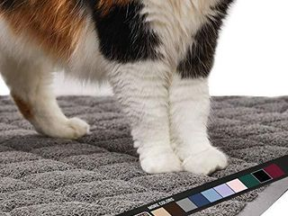 Gorilla Grip Original Premium Durable Cat litter Mat  35x23  Xl Jumbo  Water Resistant  Traps litter from Box and Cats  Scatter Control  Soft on Kitty Paws  Easy Clean Cat Mat  Gray