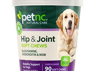 PetNC Natural Care Hip and Joint Soft Chews for Dogs  90 Count