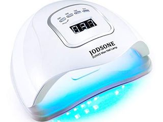JODSONE UV lED Nail lamp 150W  Nail Dryer for Gel Polish  Gel Nail lamp with 45 light Beads   led Nail light for Gel Nails with Automatic Sensor   4 Timers