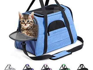 Prodigen Pet Carrier Airline Approved Pet Carrier Dog Carriers for Small Dogs  Cat Carriers for Medium Cats Small Cats  Small Pet Carrier Small Dog Carrier Airline Approved Cat Pet Travel Carrier Blue