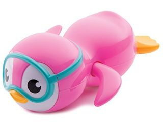 Munchkin Wind Up Swimming Penguin Bath Toy  Pink