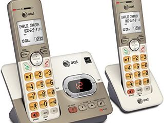AT T El52213 2 Handset Expandable Cordless Phone with Answering System   Extra large Backlit Keys