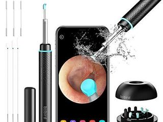 BEBIRD M9 Pro  Ear Cleaning Endoscope  Wireless Ear Cleaning Camera 1080P FHD with 6 lED light  Waterproof 3 5mm Ultra Thin Ear Scope Temperature Control for All Mobile Devices  Black