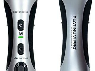 PlATINUM PRO by MANGROOMER   New Body Groomer  Ball Groomer and Body Trimmer with lithium Max Battery  Bonus Extra Foil and Storage Case   Generation 8 0