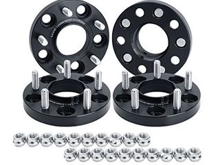 dynofit 20mm 4pcs Solid Forged Wheels Spacer for Je ep Compass 2006 2017  Patriot 2007 2017  Hyundai genesis and More  5x4 5 Hubcentric Wheel Spacers for 5x114 3 67 1mm 12x1 5 Rims