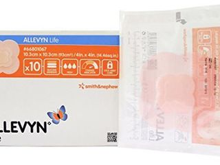 Smith   Nephew Foam Dressing Allevyn life 4 X 4  Quadrilobe Sterile  66801067  Sold Per Box