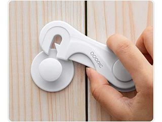 Cabinet locks   Adoric Child Safety locks 4 Pack   Baby Safety Cabinet locks   Baby Proofing Cabinet Kitchen System with Strong Adhesive Tape