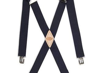 Dickies Men s 1 1 4 Solid Straight Clip Suspender  Navy  One Size