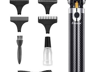 Electric Pro li Outliner Clippers for Men Professional Cordless Hair Trimmer Rechargeable Grooming Kits T Blade Close Cutting Trimmer for Men 0mm Bald Head Clipper
