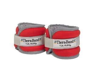 TheraBand Ankle Weights  Comfort Fit Wrist   Ankle Cuff Weight Set  Adjustable Walking Weights for Cardio  Home Workout  Ankle Strengthening   Physical Therapy  Red  1 lb  Each  Set of 2  2 Pounds