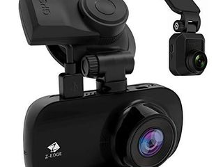 Dual Dash Cam  Z Edge Z3D 2 7  Screen Dual 1920 x 1080P Dash Cam Front and Rear  2560x1440P Single Front  with GPS  Support 256GB max  WDR  Super Night Vision  Parking Mode  G Sensor