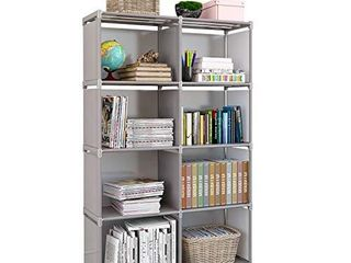 Rerii Storage Shelves  Storage Cubes  Bedroom Closet Standing Shelf for Bedroom living Room  Small Spaces  Display Rack Shelves  4 Tier