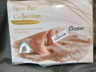 CARVAPET FAUX FUR COllECTION SOFT FlUFFY lUXURIOUS AREA RUG   CHAIR SOFA COVER   PIllOW CASE