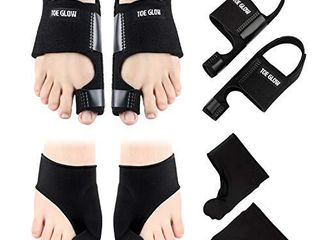 Bunion Corrector   Bunion Relief Protector Sleeves Kit   4 Pieces Bunion Splints Big Toe Straightener for Hallux Valgus Aid Surgery