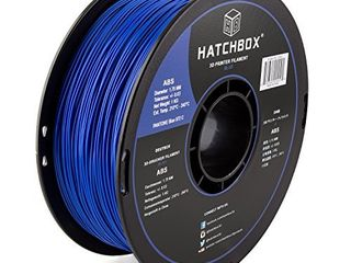 HATCHBOX ABS 3D Printer Filament  Dimensional Accuracy   0 3 mm  1 kg Spool  1 75 mm  Blue
