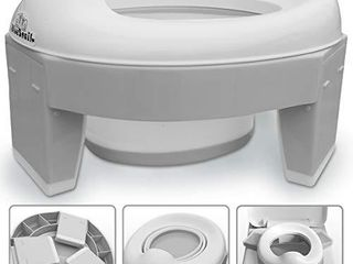 3 in 1 Go Potty for Travel  Portable Folding Compact Toilet Seat Potty Training Toilet Chairs for Toddler Boys   Girls with storage Bag and Potty liners by BlueSnail  Gray