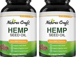 Natural Hemp Seed Oil Capsules   Pure Hemp Oil 1000mg Vegetarian Omega 3 Supplement for Joint Support Heart Health Immune Support with Healthy Hair Skin and Nails Vitamins   Omega 3 6 9 Hemp Pills