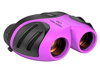 Gifts for Girls Age 3 12  Compact Binocular for Kids Birthday Present Toys for 3 12 Year Old Girls Boys 2021 New Easter Gifts for 3 12 Year Old Boys Small Binoculars Stocking Fillers Purple TGUS006