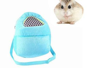 Yosoo Portable African Hedgehog Hamster Breathable Pet Dog Carrier Bags Handbags Puppy Cat Travel Backpack  S  White Mesh   Blue