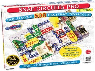 Snap Circuits Pro SC 500 Electronics Exploration Kit   Over 500 Projects   Full Color Project Manual   75   Snap Circuits Parts   STEM Educational Toy for Kids 8
