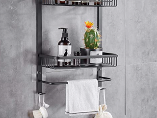 HOOMTAOOK SHOWER CADDY wall mounted bathroom shelf with an organizer kitchen storage basket waterproof corner shelf organizer