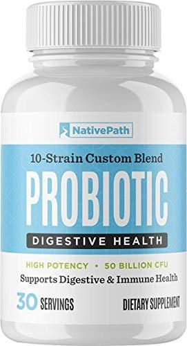 NativePath   Daily Probiotic   30 Capsules   Easy to Swallow   for Digestion   Immune Health   10 Unique Super Probiotic Strains   50 Billion CFUs   Maximize Weight Management Efforts