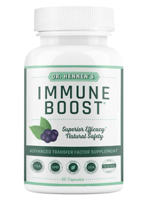 Dr  Hennen s Immune Boost Immunity Story Supplement With Transfer Factor  60 Capsules