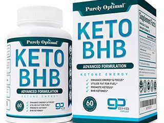 Premium Keto Diet Pills   Utilize Fat for Energy with Ketosis   Boost Energy   Focus   BHB Ketogenic Supplements for Women and Men   30 Day Supply