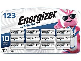 Energizer 123 lithium Batteries  3V CR123A lithium Photo Batteries  12 Battery Count